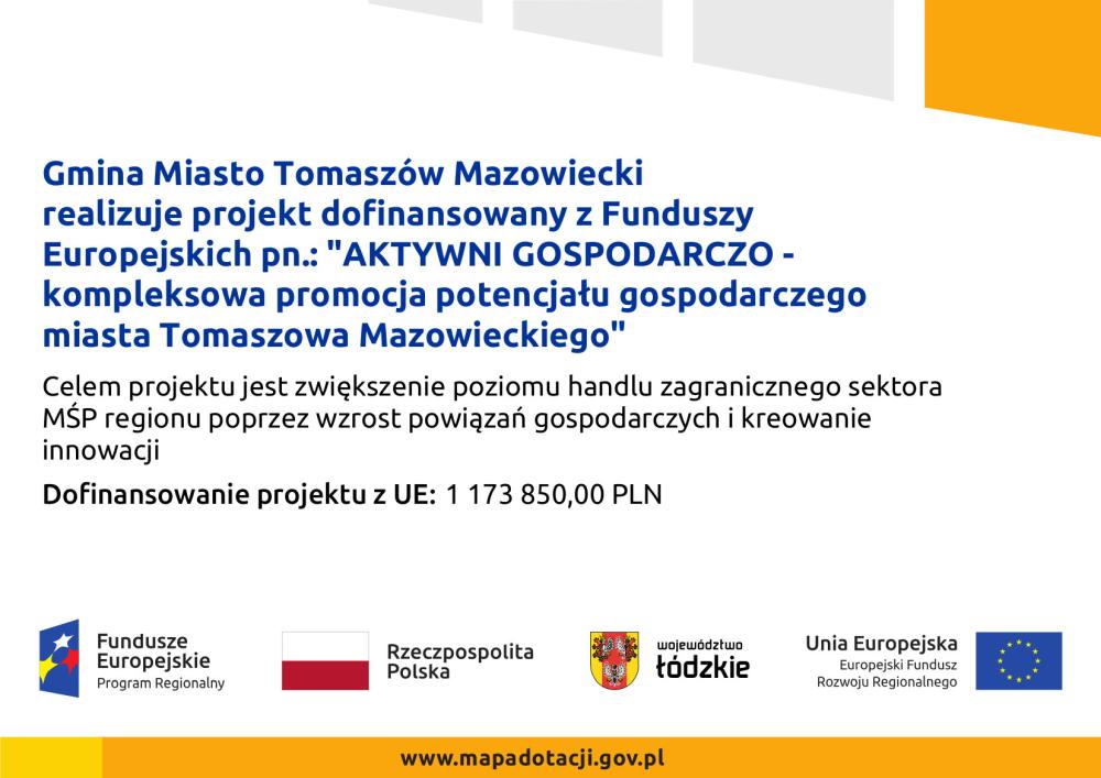Plakat Aktywni Gospodarczo