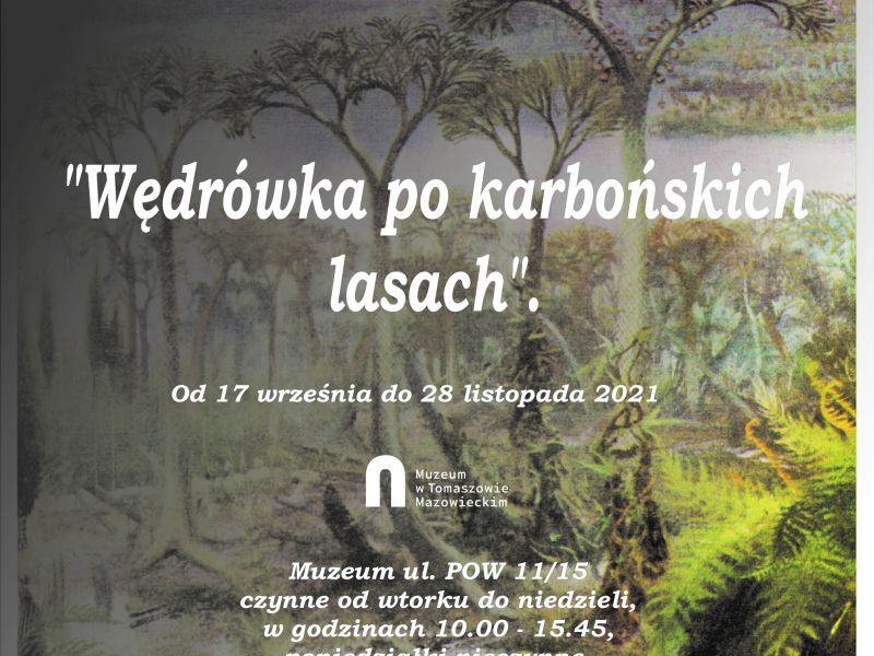 Na zdjęciu plakat wystawy bw muzeum pt.