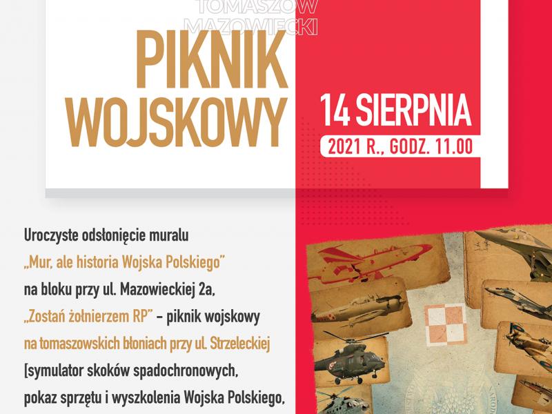 Na zdjęciu baner pikniku z okazji Święta Wojska Polskiego