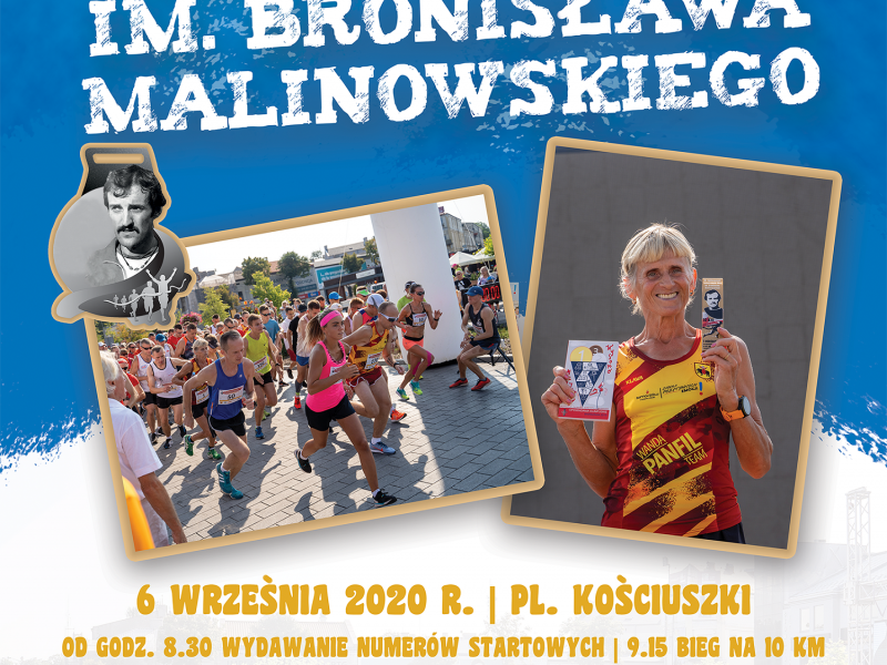 39. Ogólnopolski Tomaszowski Bieg im. Bronisława Malinowskiego [ZAPISY]