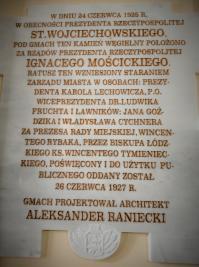 Historie Tomaszowa: ratusz miejski