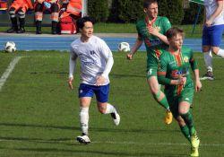 Na zdjęciu piłkarze Lechii podczas meczu z Olimpią Zambrów.