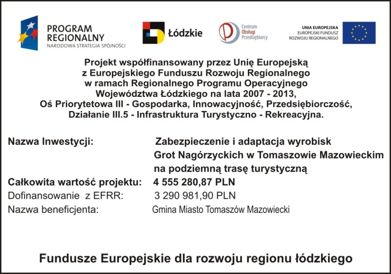 Fundusze Europejskie-Groty