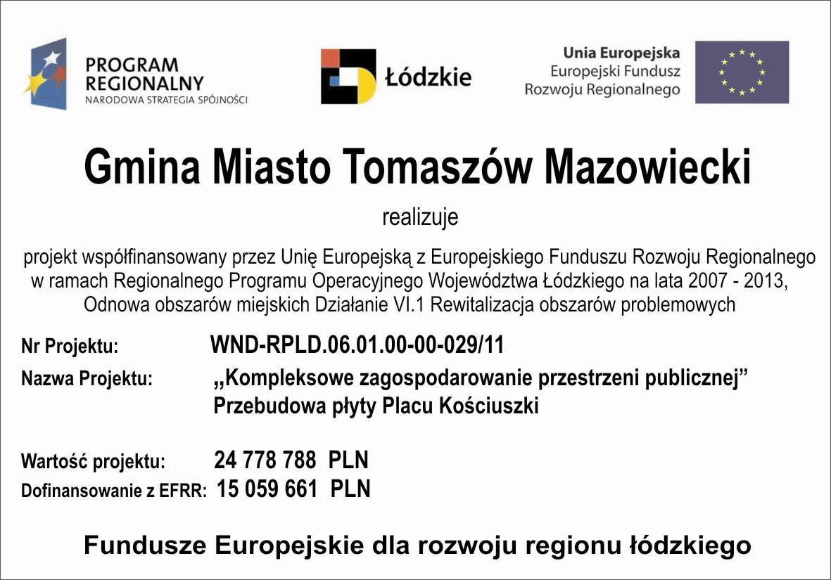 Fundusze Europejskie-Plac Kościuszki