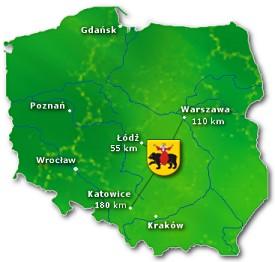 Położenie Geograficzne Tomaszowa Mazowieckiego